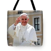Pope Francisco Tote Bag by Diane Greco-Lesser