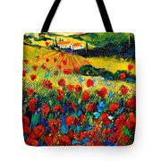 Poppies In Tuscany  Tote Bag