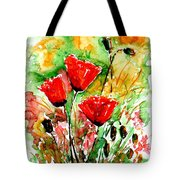 Poppy Lawn Tote Bag