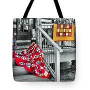 Porch Of Many Colors Tote Bag