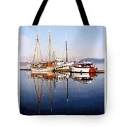 Port Orchard Marina Reflections Tote Bag