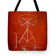 Portable Drum Patent Drawing From 1903 - Red Tote Bag by Aged Pixel
