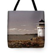 Portland Breakwater Lighthouse Tote Bag
