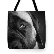 Portrait Of A Mastiff Tote Bag
