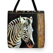 Portrait Of A Zebra Tote Bag