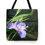 Purple Iris Reflection Tote Bag