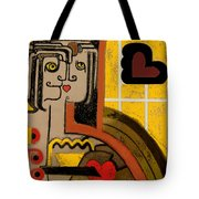 Queen Of Hearts Of Egypt Tote Bag