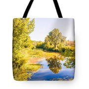 Quiet River In The Park Tote Bag