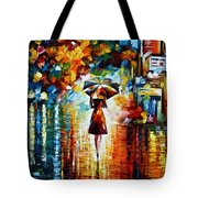 Rain Princess - Palette Knife Landscape Oil Painting On Canvas By Leonid Afremov Tote Bag