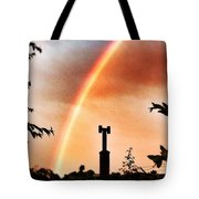 Rainbow Over The City Tote Bag