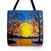 Raining Sunset Tote Bag