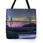 Charleston Bridge Low Tide Tote Bag