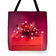 Red Gift Box Tote Bag
