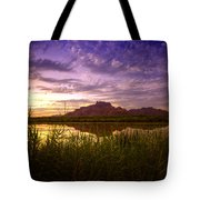 Red Mountain Reflections  Tote Bag