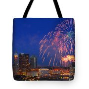 D21l-10 Red White And Boom Fireworks Display In Columbus Ohio Tote Bag