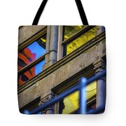 Red Yellow Blue Abstract No Watermark Tote Bag
