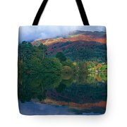 Reflection Of Hills In A Lake Tote Bag
