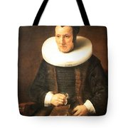 Rembrandt's An Old Lady With A Book Tote Bag
