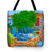 Colourful Restaurant Tote Bag