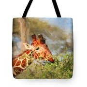 Reticulated Giraffe Kenya Tote Bag