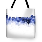 Rio De Janeiro Skyline In Watercolor On White Background Tote Bag