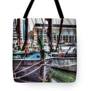 River Thames Sailing Barges. Tote Bag