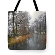 River With Snow Tote Bag