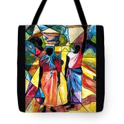 Road To The Market Tote Bag
