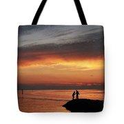 Rock Harbor Sunset Tote Bag