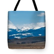 Rocky Mountains Road Tote Bag