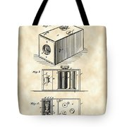 Roll Film Camera Patent 1888 - Vintage Tote Bag