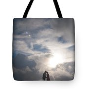 Romantic Couple On A Mountain Peak Tote Bag
