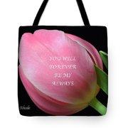 Romantic Pink Tulip Tote Bag