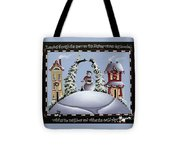 Romping Through The Snow Tote Bag