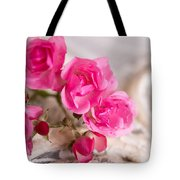 Roses And Lace Tote Bag