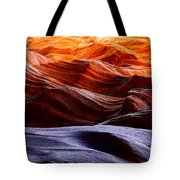Rough Sea Tote Bag by Inge Johnsson