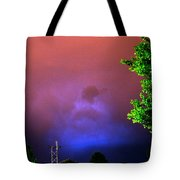 Rounds 2 3 Late Night Nebraska Storms Tote Bag