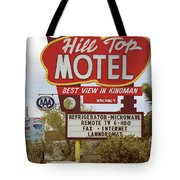 Route 66 - Hill Top Motel Tote Bag