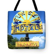 Route 66 - Sunset Motel Tote Bag