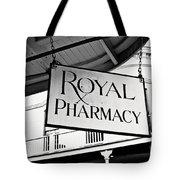 Royal Pharmacy - Bw Tote Bag