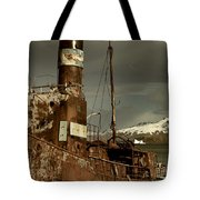 Rusted Whaling Boats Tote Bag by Amanda Stadther