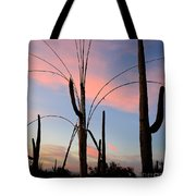Saguaro Silhouettes Tote Bag