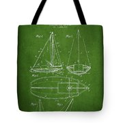Sailboat Patent Drawing From 1948 Tote Bag