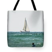 Sailing In California Tote Bag