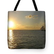 Sailing Into The Sunset - Key West Tote Bag
