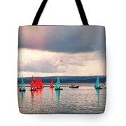 Sailing On Marine Lake A Reflection Tote Bag
