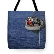 Sailors Lower A Rigid-hull Inflatable Tote Bag