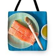 Salmon Fillets Tote Bag