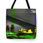 San Diego California Skyline Watercolor Tote Bag