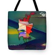 San Diego Map Watercolor Tote Bag